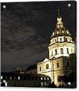 Les Invalides - Eglise Du Dome At Night - 2 Acrylic Print