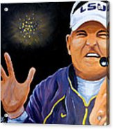 Les Miles Clapping Acrylic Print by Terry J Marks Sr