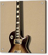 Les Paul Electric Guitar Acrylic Print