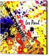 Les Paul Retro Acrylic Print