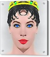 Leslie Caron Alias In The Glass Slipper Acrylic Print by Art Cinema Gallery