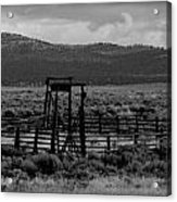 Let Em Loose Black And White  Acrylic Print