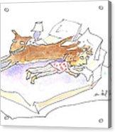 Let Sleeping Dogs Lie Acrylic Print by Molly Brandenburg