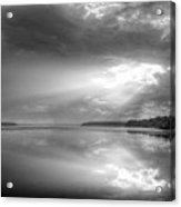Let There Be Light Black And White Acrylic Print by JC Findley