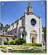 Let There Be Light Knowles Memorial Chapel 1 By Diana Sainz Acrylic Print