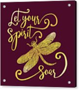Let Your Spirit Soar. Hand Drawn Acrylic Print