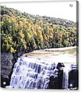 Letchworth State Park Middle Falls Panorama Acrylic Print