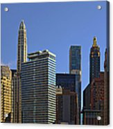 Let's Talk Chicago Acrylic Print by Christine Till
