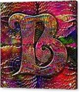 Letter B Acrylic Print