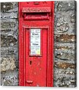 Victorian Red Letter Box Acrylic Print