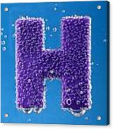 letter H underwater with bubbles  Acrylic Print