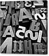 Letters And Numbers 1 Acrylic Print
