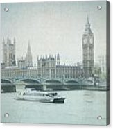 Letters From The Thames - London Acrylic Print