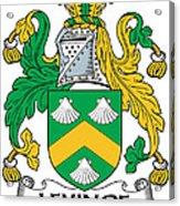 Levinge Coat Of Arms Irish Acrylic Print