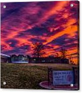 Lhs Sunset Acrylic Print