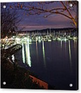 Liberty Bay At Night Acrylic Print