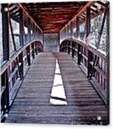 Liberty Bridge Swan Lake Acrylic Print