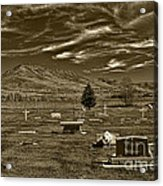 Liberty Cemetery I Sepia-toned Acrylic Print