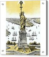 Liberty Enlightening The World  Acrylic Print by War Is Hell Store