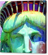 Liberty Head Painterly 20130618 Long Acrylic Print by Wingsdomain Art and Photography