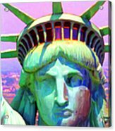 Liberty Head Painterly 20130618 Square Acrylic Print by Wingsdomain Art and Photography