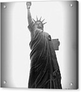 Liberty In Black And White Acrylic Print