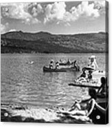 Liberty Lake Summer Leisure In 1940 Acrylic Print