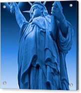 Liberty Shines On In Blue Acrylic Print