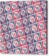 Liberty Stamps Collage Acrylic Print