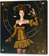 Libra Zodiac Sign Acrylic Print