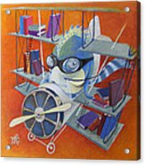 Librarian Pilot Acrylic Print by Marina Gnetetsky