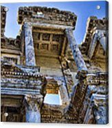 Library Of Celsus Acrylic Print by David Smith