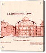 Library Of Congress Design 1877 Acrylic Print by Mountain Dreams