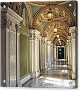 Library Of Congress Hallway Washington Dc Acrylic Print