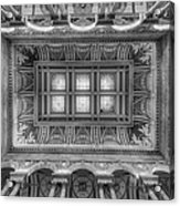 Library Of Congress Main Hall Ceiling Bw Acrylic Print