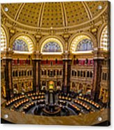 Library Of Congress Main Reading Room Acrylic Print