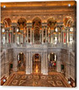 Library Of Congress Acrylic Print by Steve Gadomski