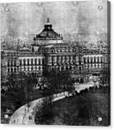 Library Of Congress Washington Dc 1902 Sketch Acrylic Print