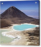 Licancabur Volcano And Laguna Verde Acrylic Print