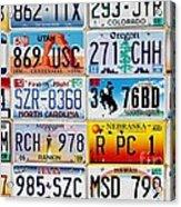 Licence Plates Acrylic Print