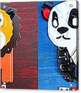 License Plate Art Jungle Animals Series 1 Acrylic Print