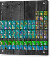License Plate Art Recycled Periodic Table Of The Elements By Design Turnpike Acrylic Print