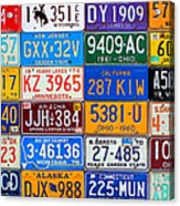 License Plates Of The Usa - Our Colorful American History Acrylic Print