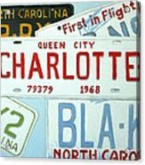 License Plates Acrylic Print by Stacy C Bottoms