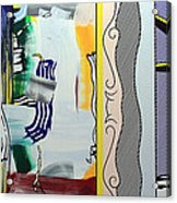 Lichtenstein's Painting With Statue Of Liberty Acrylic Print