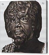 lieutenant commander Worf Star Trek TNG Acrylic Print