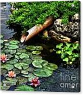 Life At The Lily Pond Acrylic Print