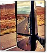 Life In My Rearview Mirror Acrylic Print