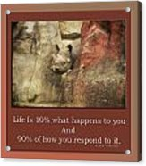 Life Is Moments Of Camouflage Acrylic Print