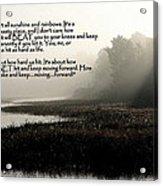 Life Lessons Acrylic Print